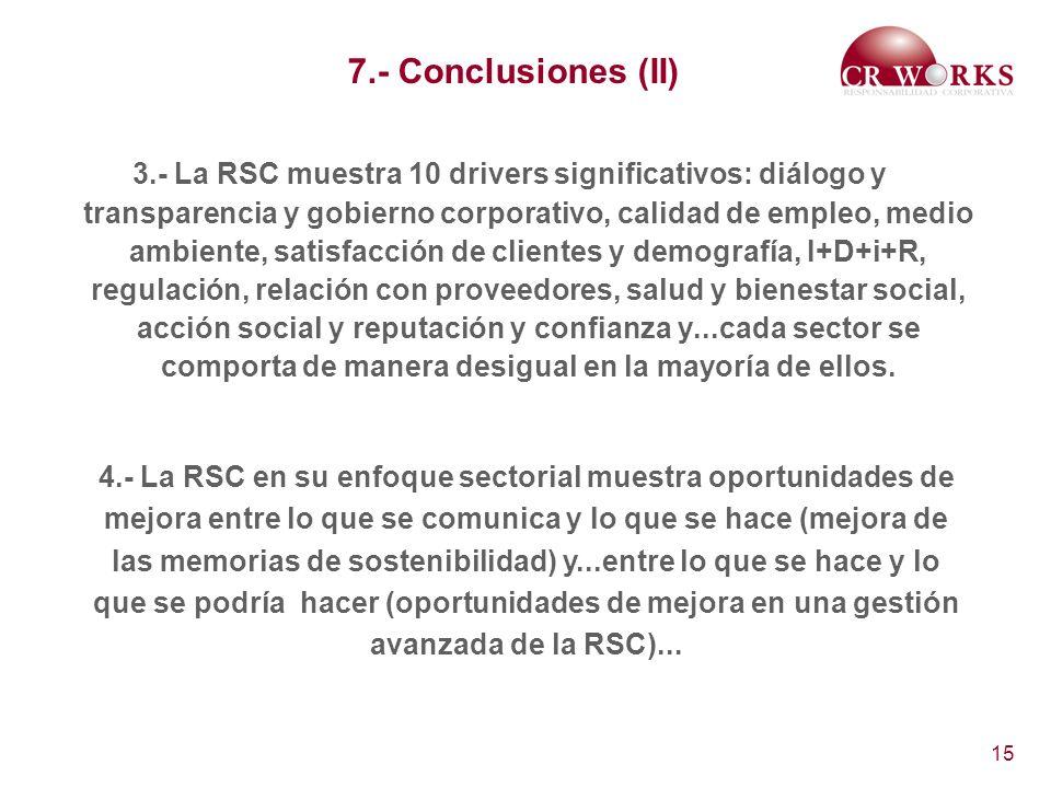 7.- Conclusiones (II)