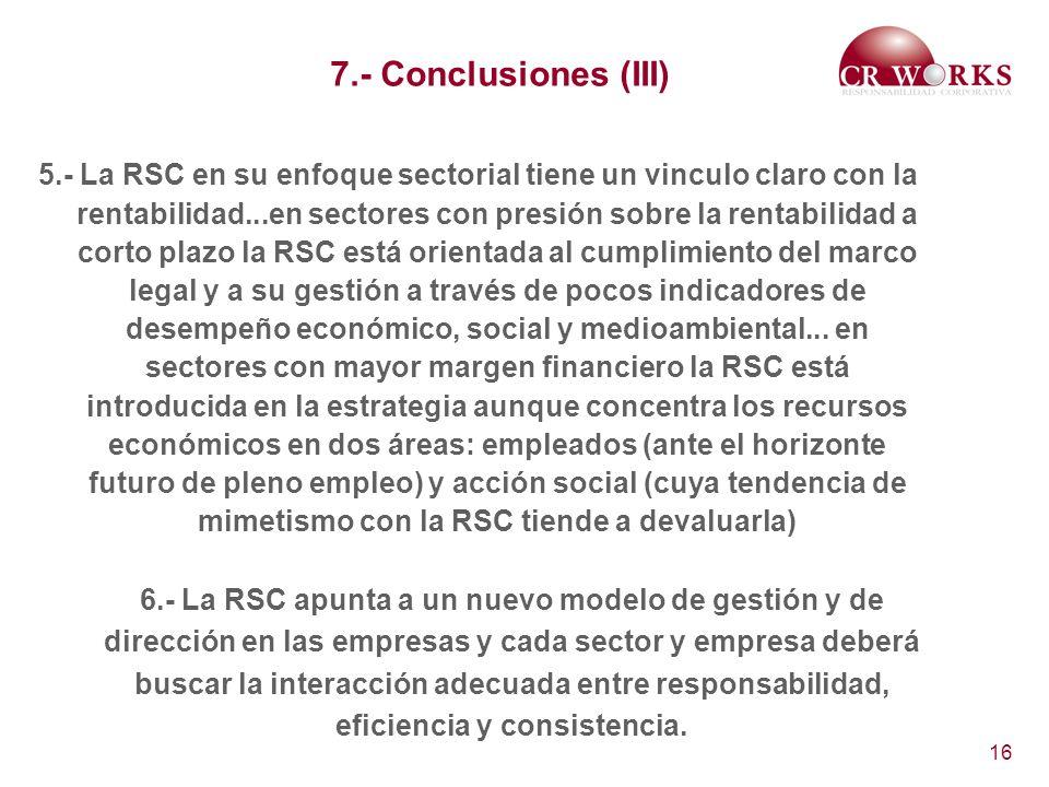 7.- Conclusiones (III)