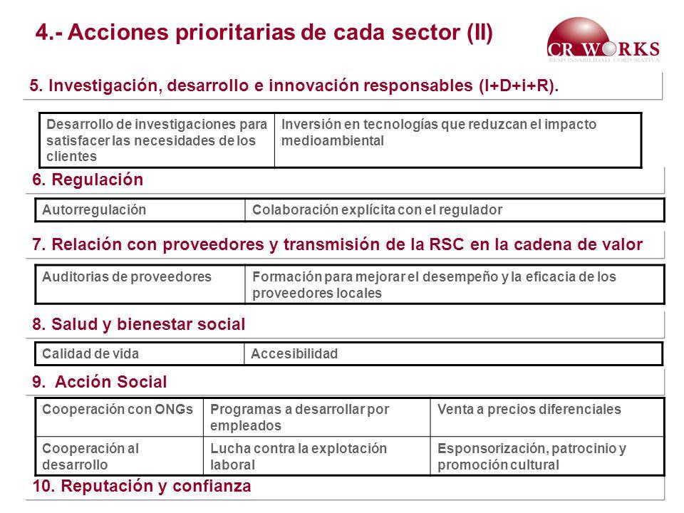 4.- Acciones prioritarias de cada sector (II)