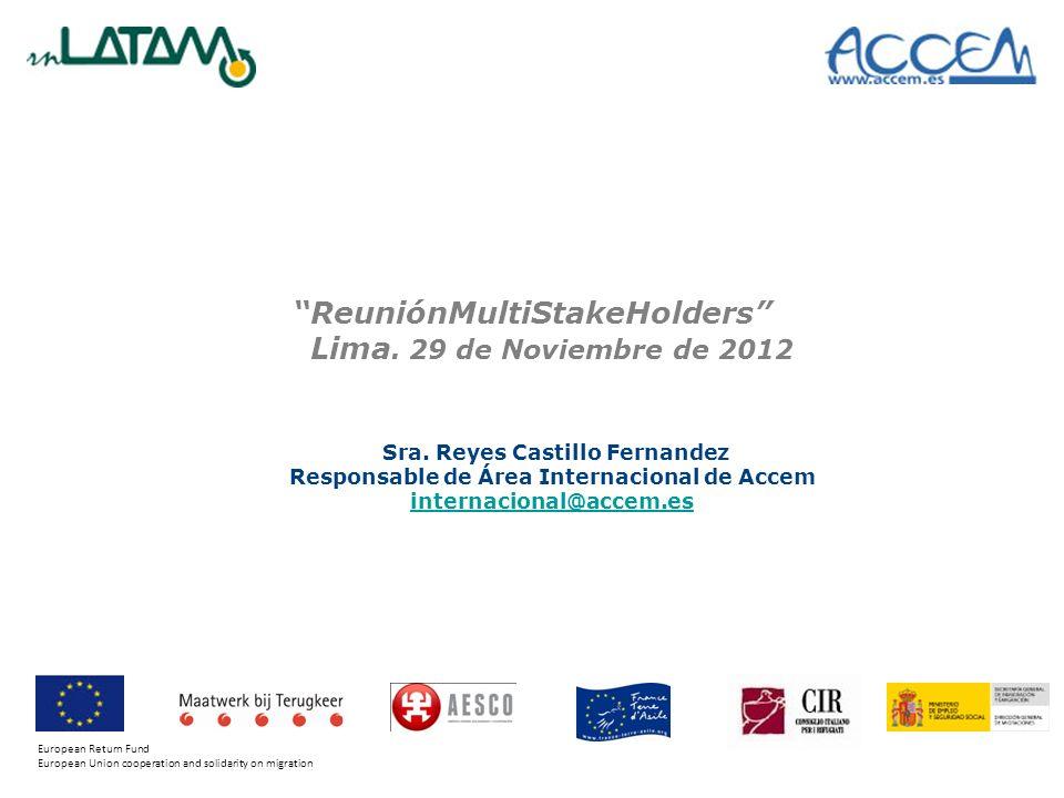 ReuniónMultiStakeHolders Lima. 29 de Noviembre de 2012