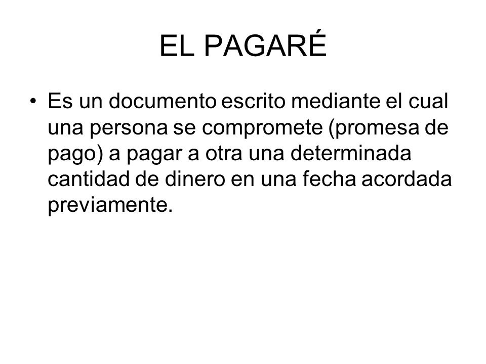 EL PAGARÉ