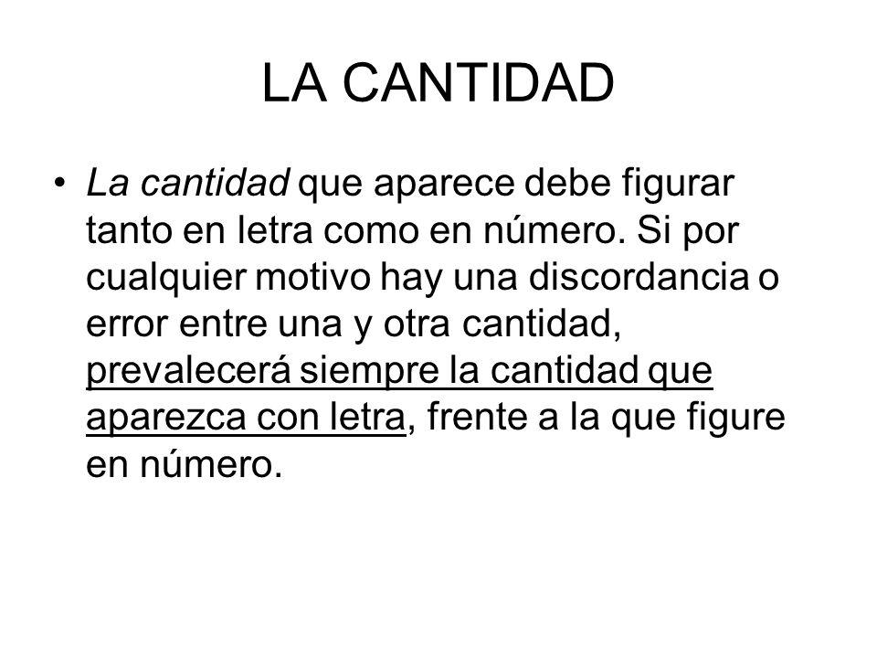 LA CANTIDAD