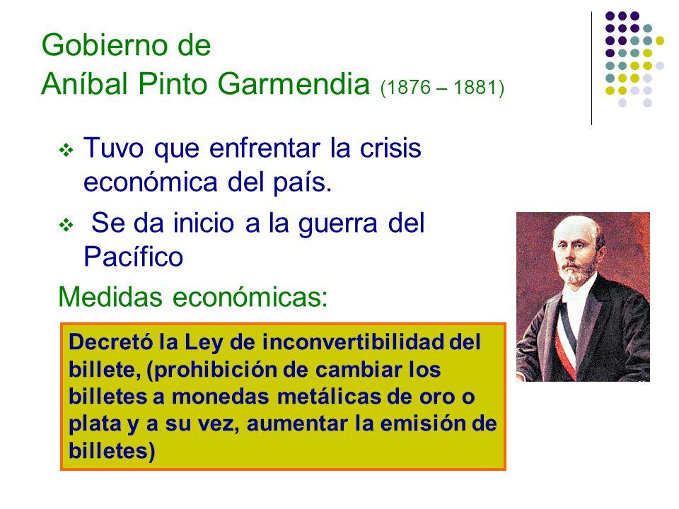 Gobierno de Aníbal Pinto Garmendia (1876 – 1881)