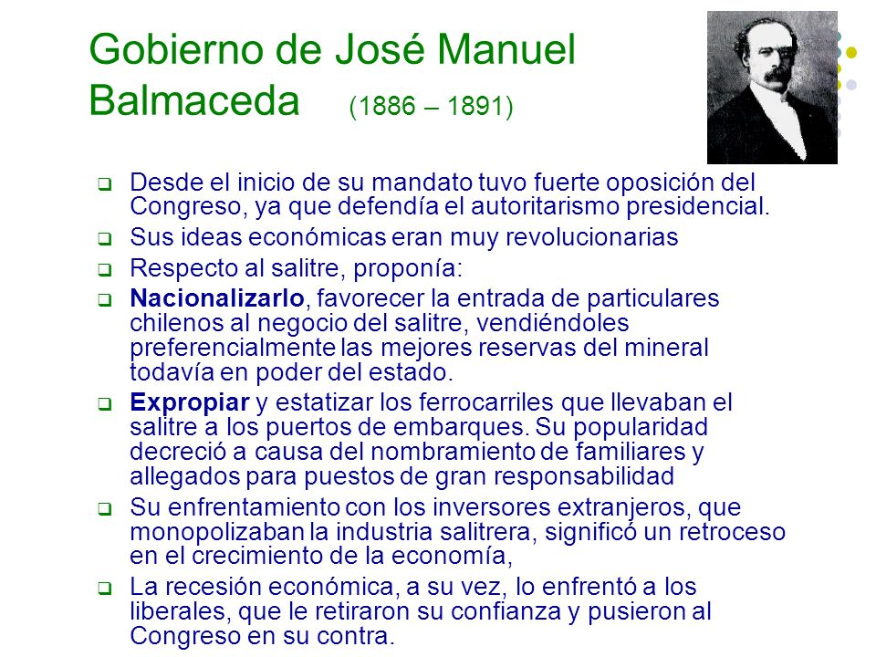 Gobierno de José Manuel Balmaceda (1886 – 1891)