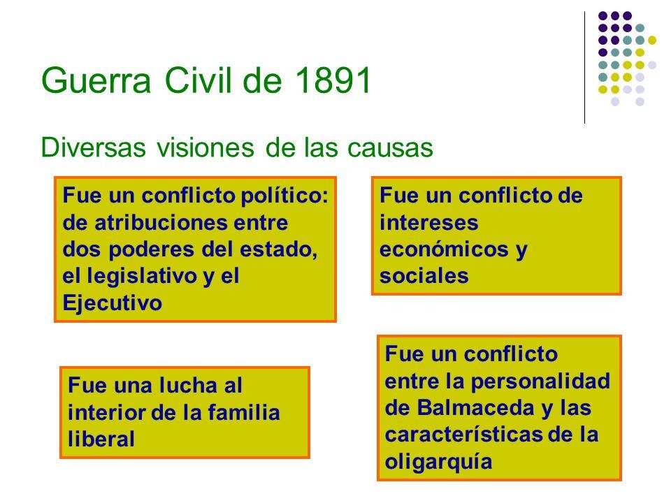 Guerra Civil de 1891 Diversas visiones de las causas