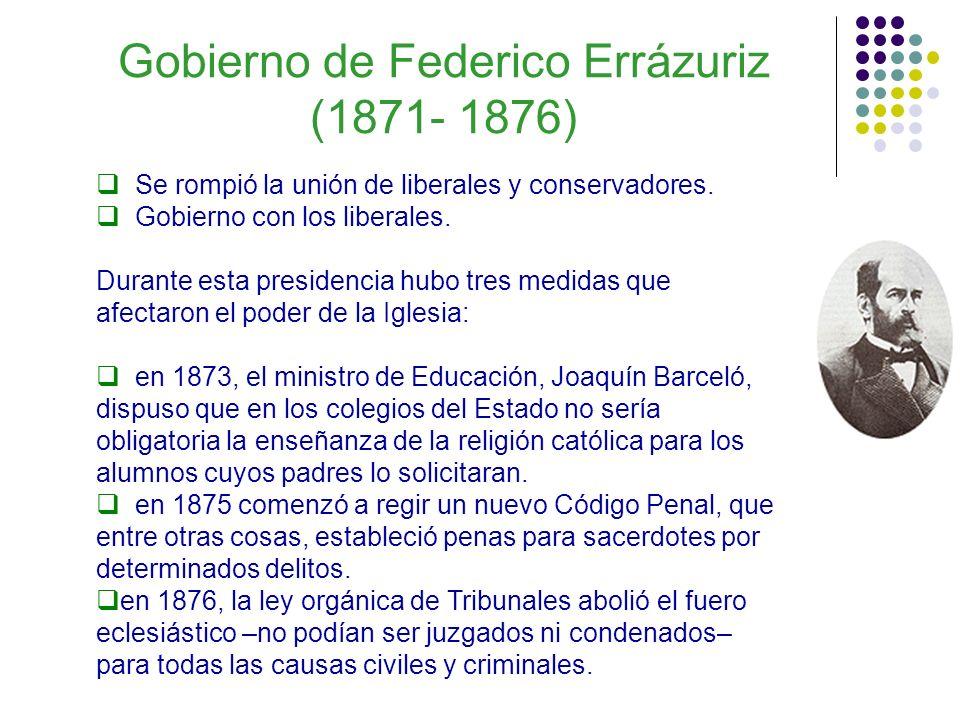 Gobierno de Federico Errázuriz (1871- 1876)