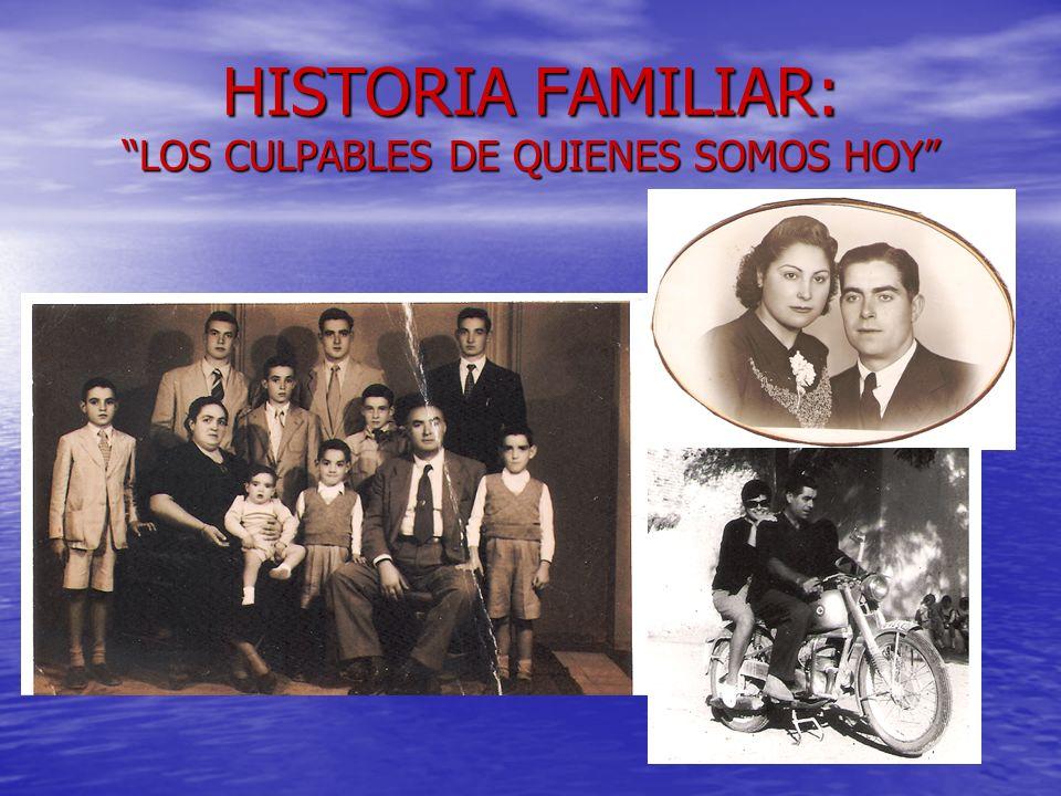 HISTORIA FAMILIAR: LOS CULPABLES DE QUIENES SOMOS HOY