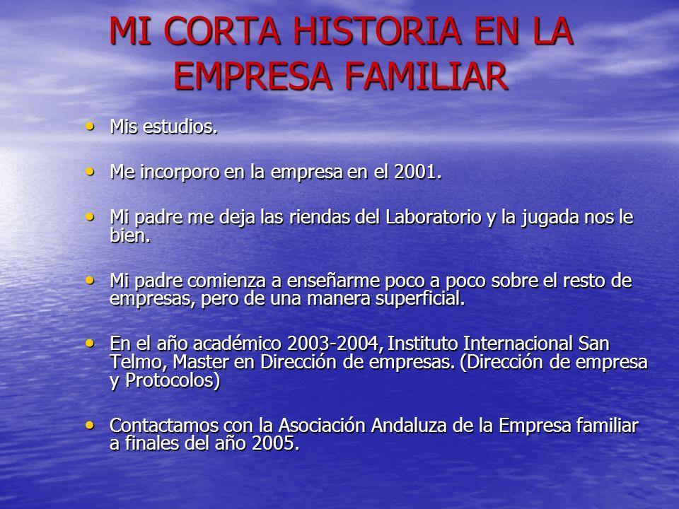 MI CORTA HISTORIA EN LA EMPRESA FAMILIAR
