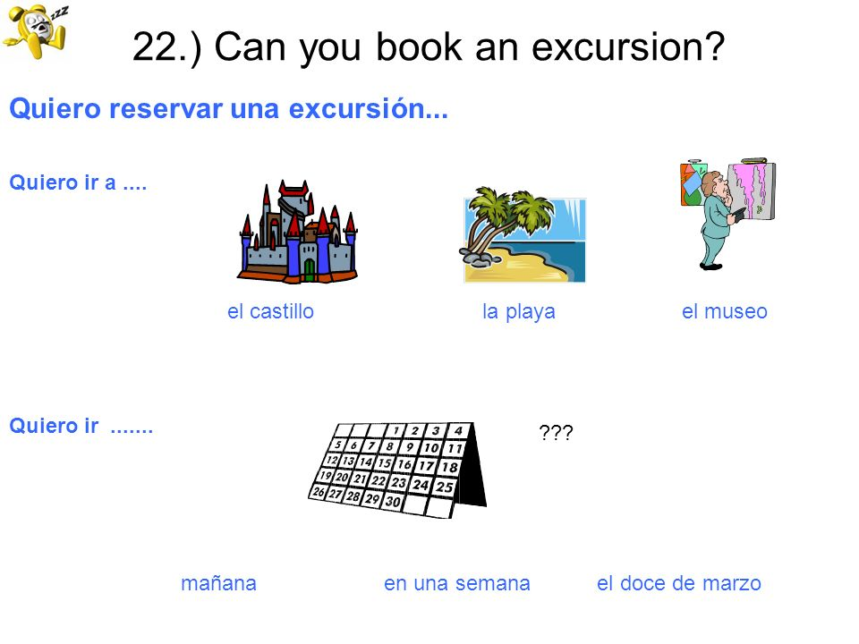 22.) Can you book an excursion