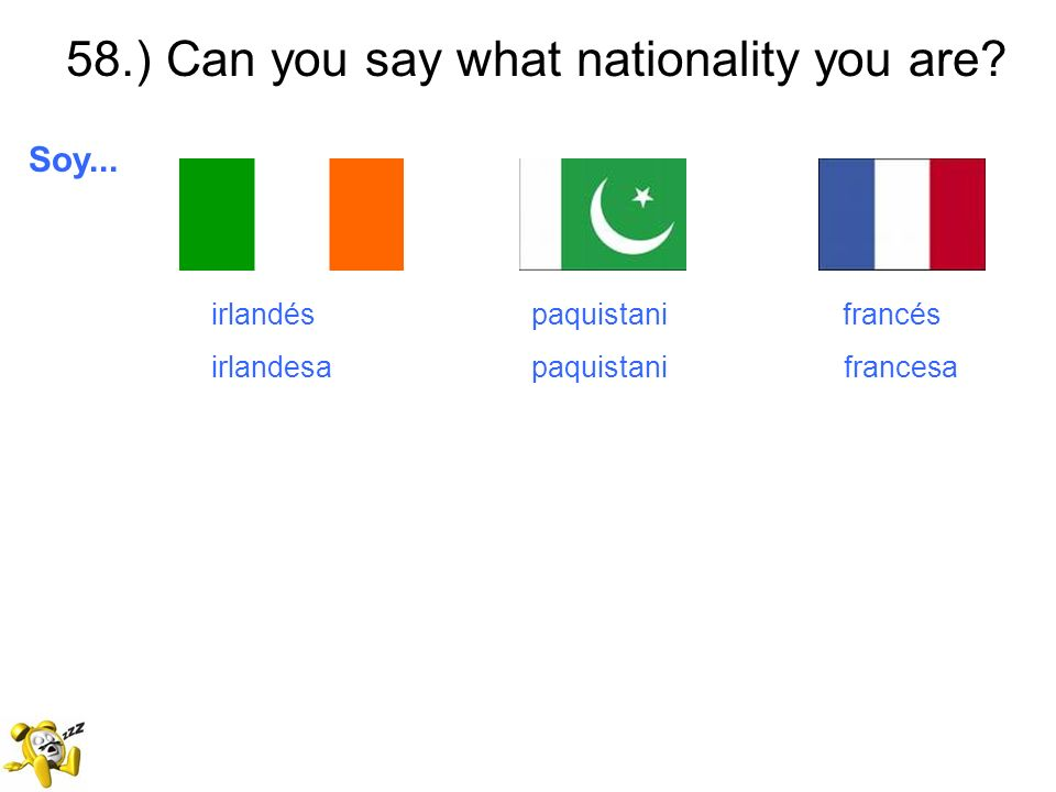 58.) Can you say what nationality you are