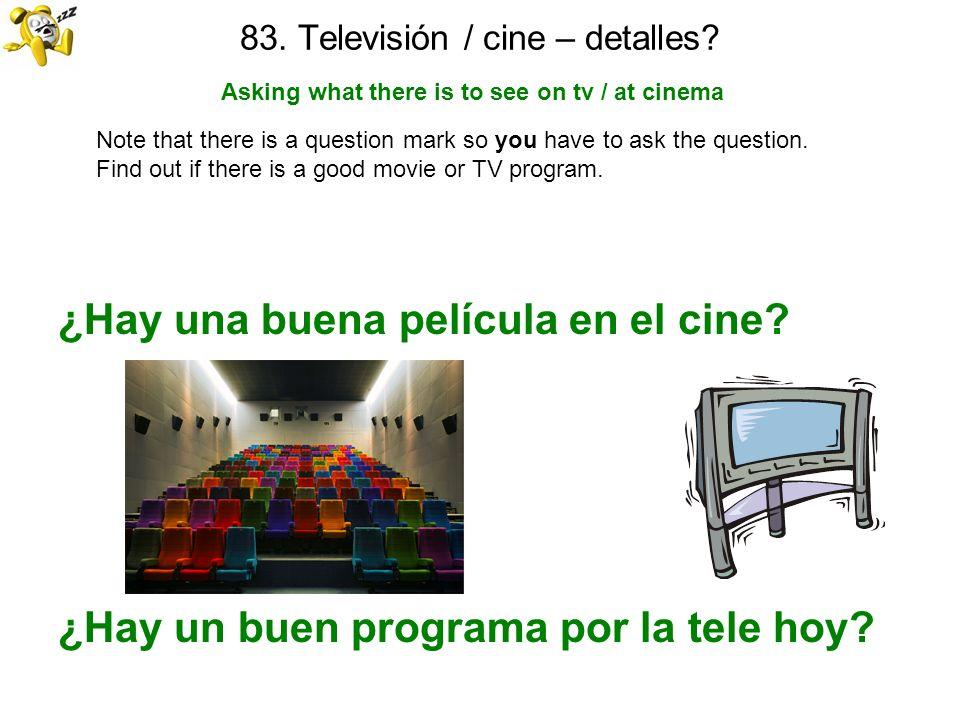 83. Televisión / cine – detalles
