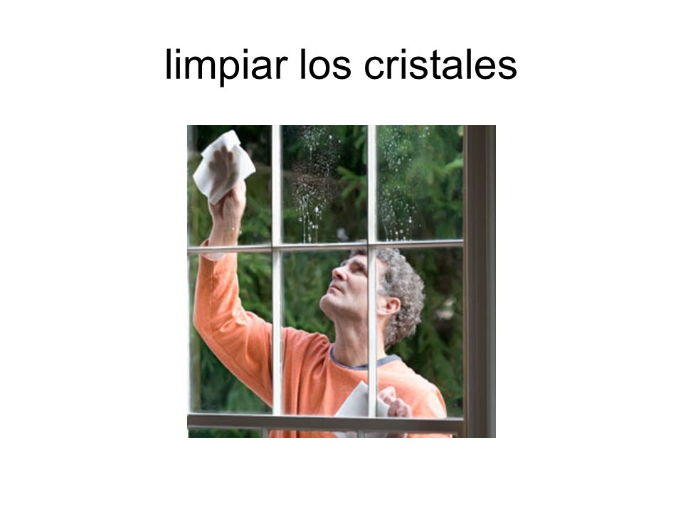 limpiar los cristales