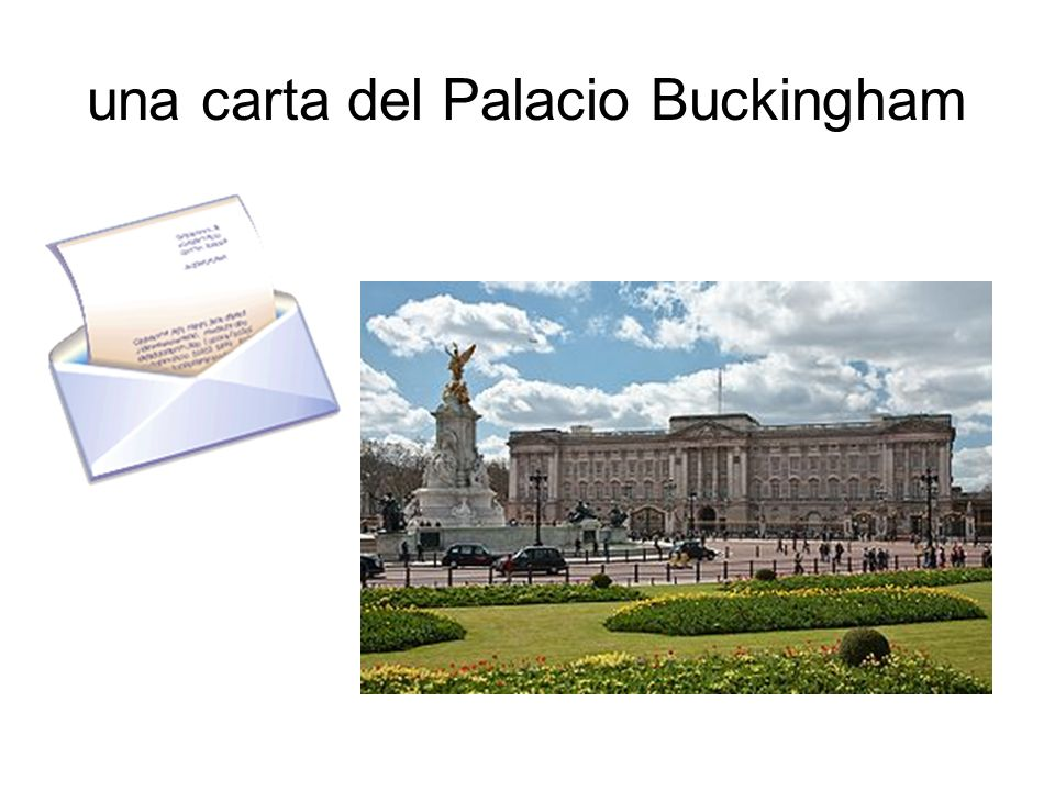 una carta del Palacio Buckingham