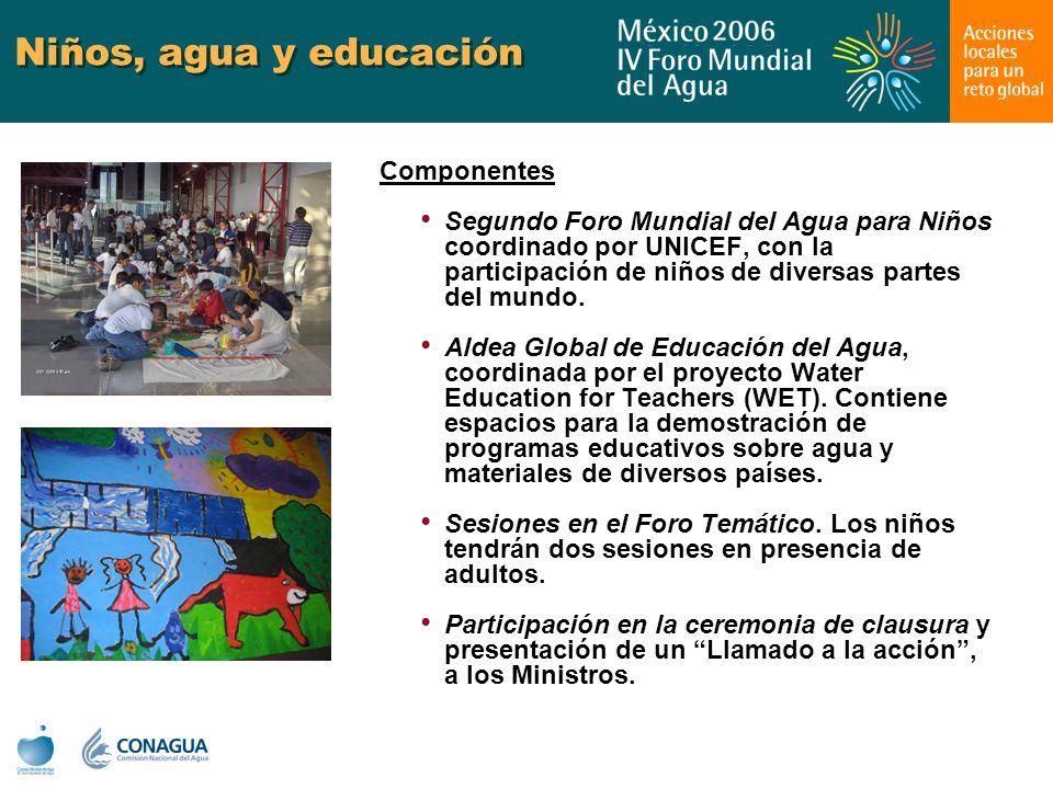 Niños, agua y educación Componentes