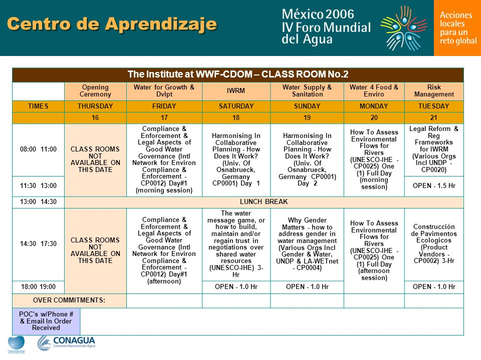 Centro de Aprendizaje The Institute at WWF-CDOM – CLASS ROOM No.2