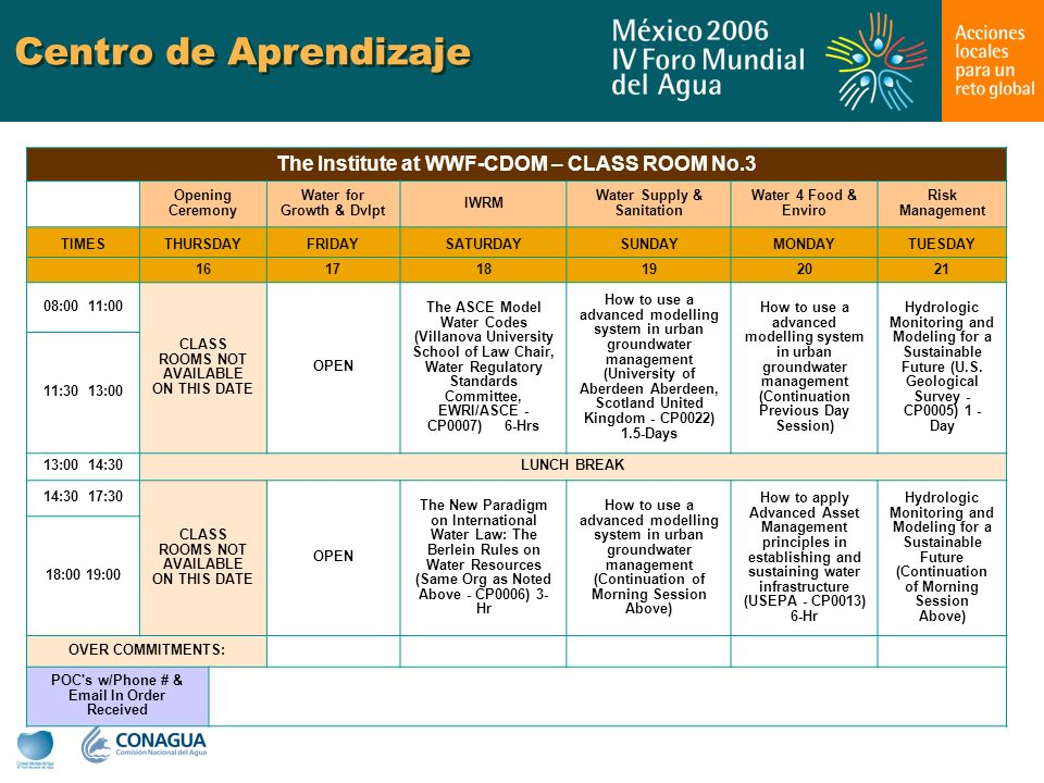 Centro de Aprendizaje The Institute at WWF-CDOM – CLASS ROOM No.3