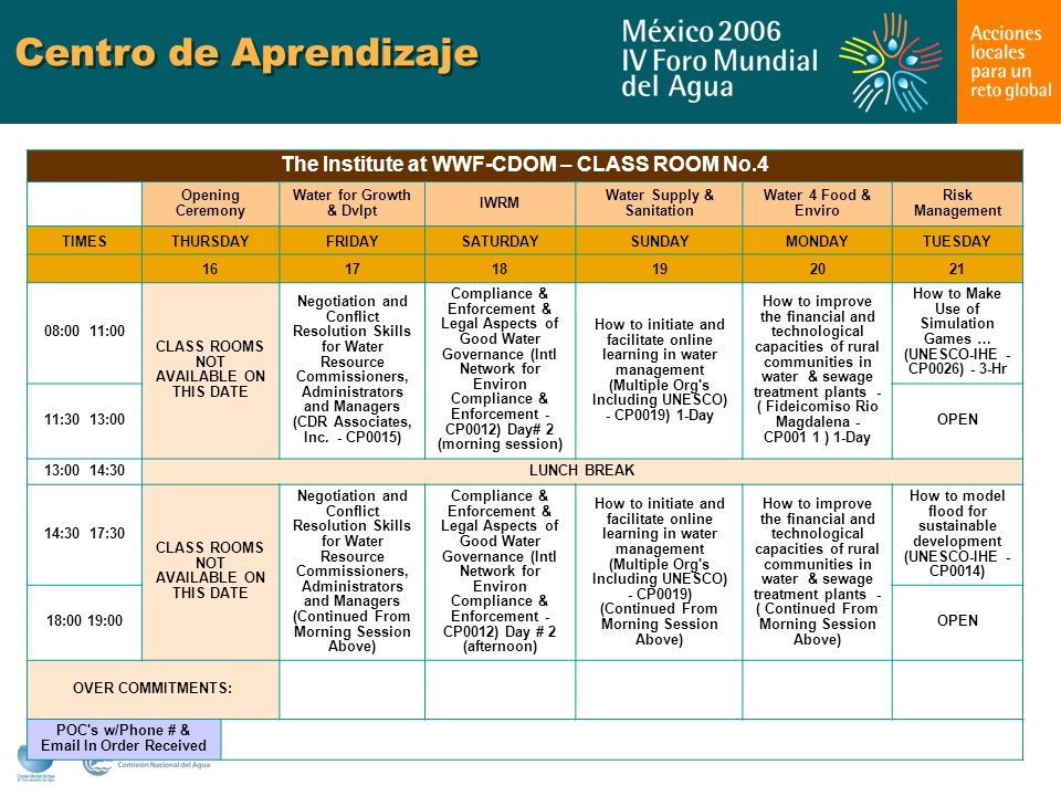Centro de Aprendizaje The Institute at WWF-CDOM – CLASS ROOM No.4