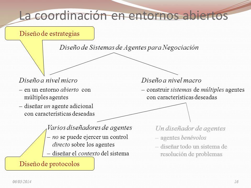 La coordinación en entornos abiertos