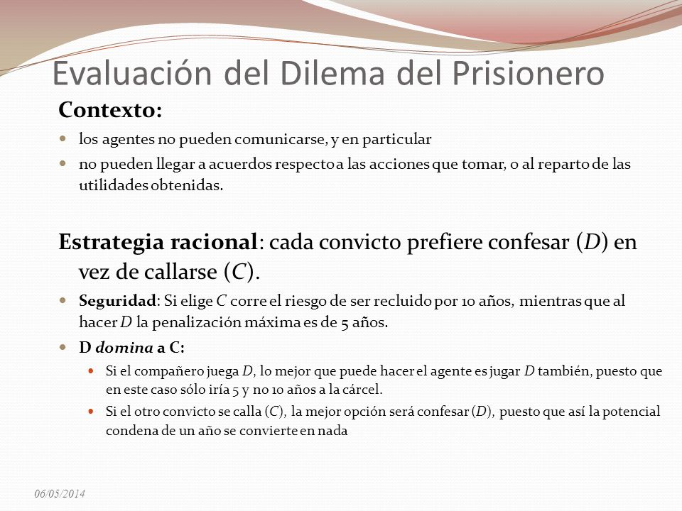 Evaluación del Dilema del Prisionero