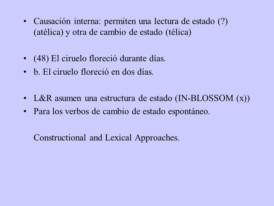 Causación interna: permiten una lectura de estado (