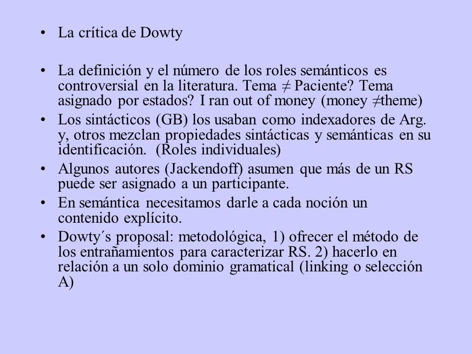 La crítica de Dowty