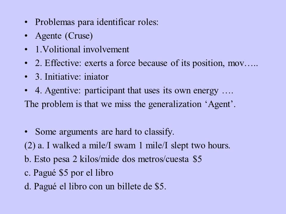 Problemas para identificar roles: