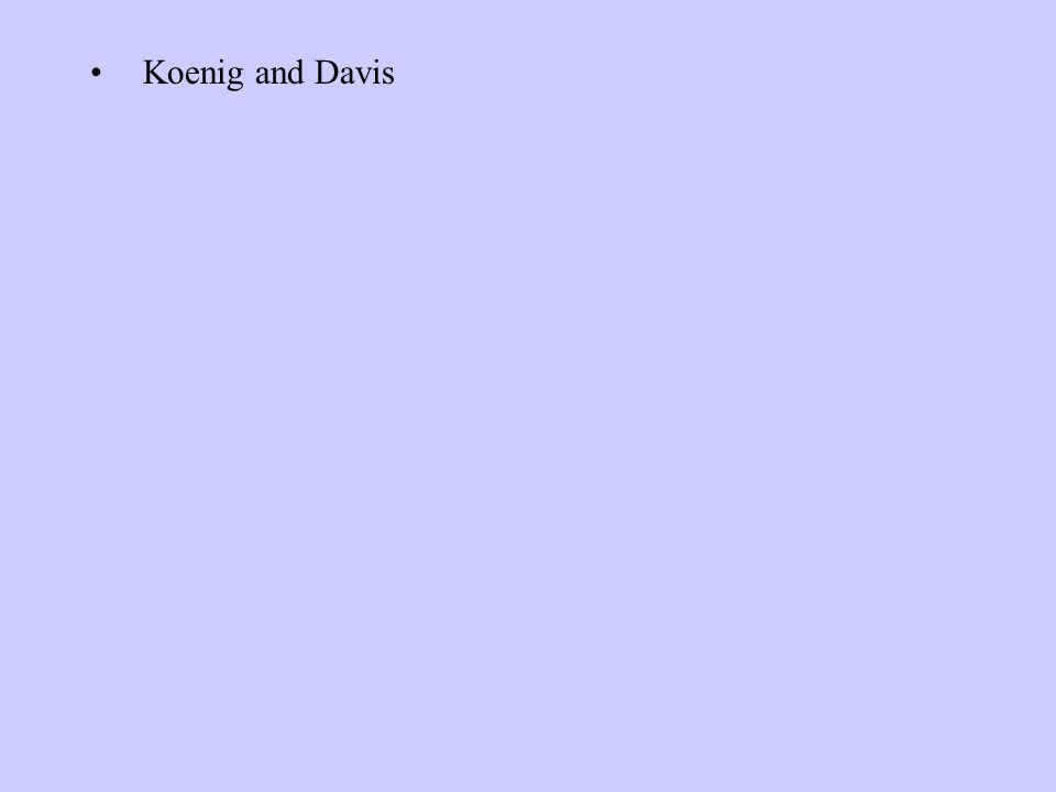 Koenig and Davis