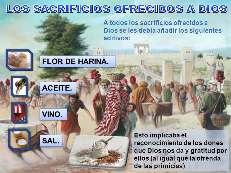 LOS SACRIFICIOS OFRECIDOS A DIOS