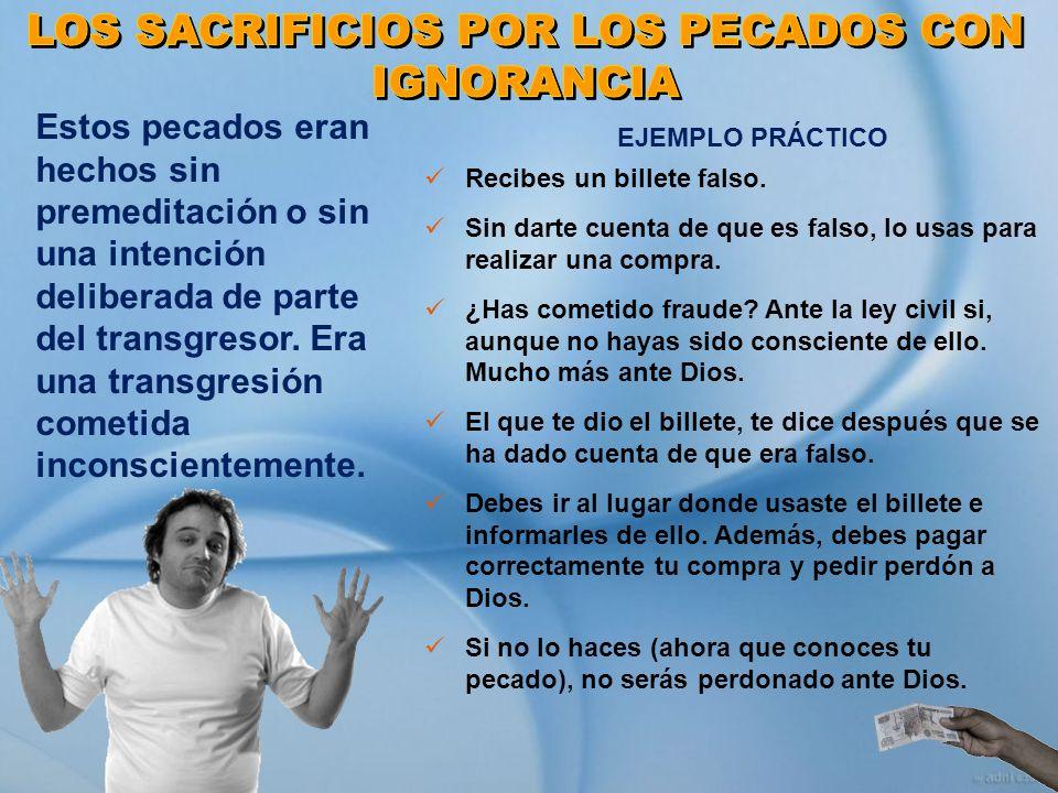 LOS SACRIFICIOS POR LOS PECADOS CON