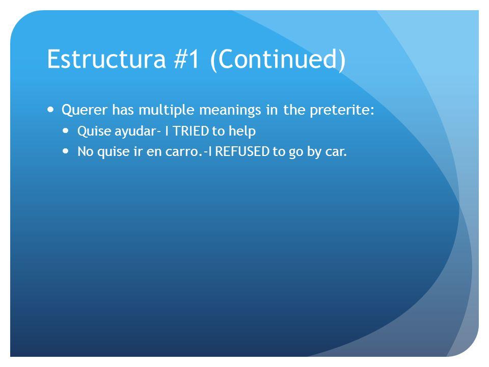 Estructura #1 (Continued)