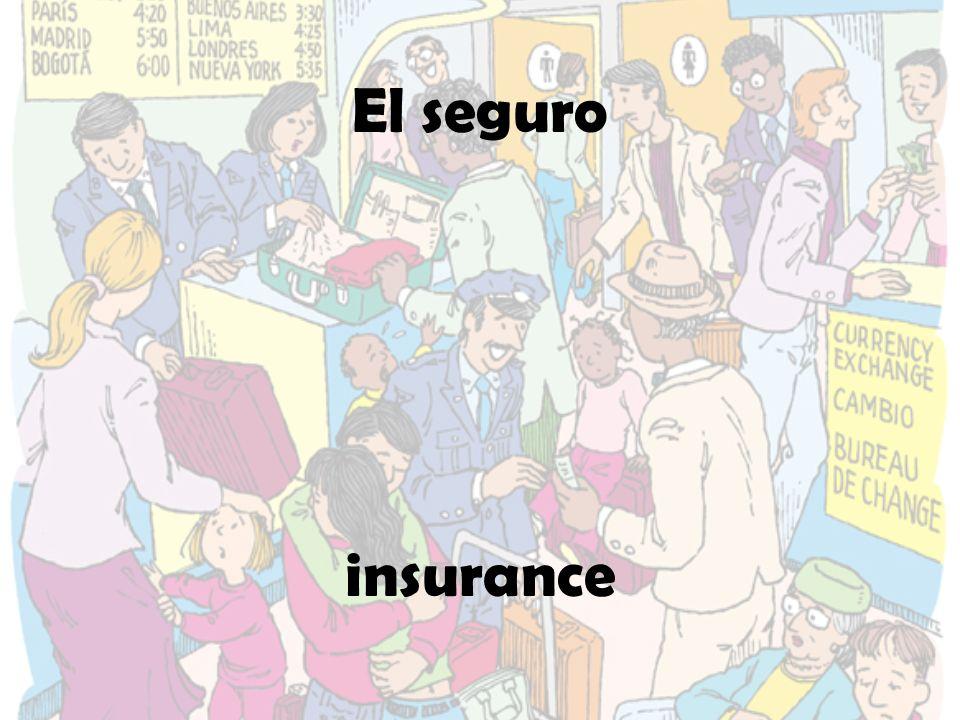 El seguro insurance