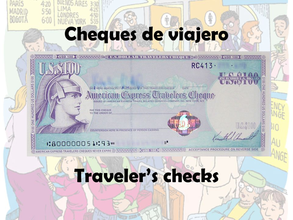 Cheques de viajero Traveler's checks