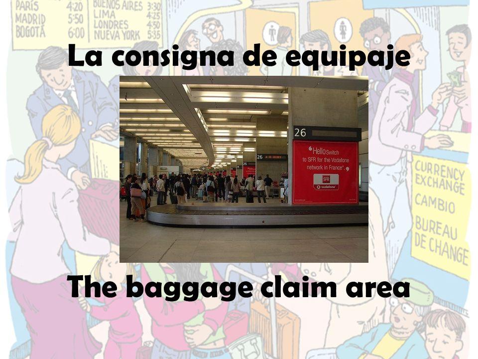 La consigna de equipaje