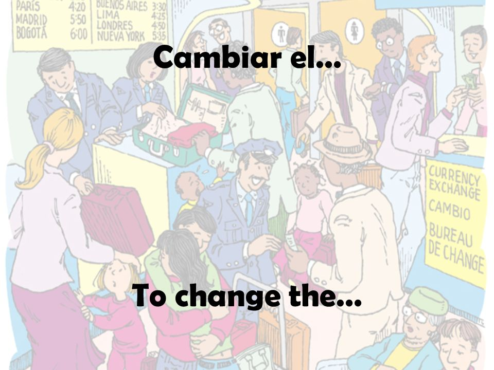 Cambiar el… To change the…