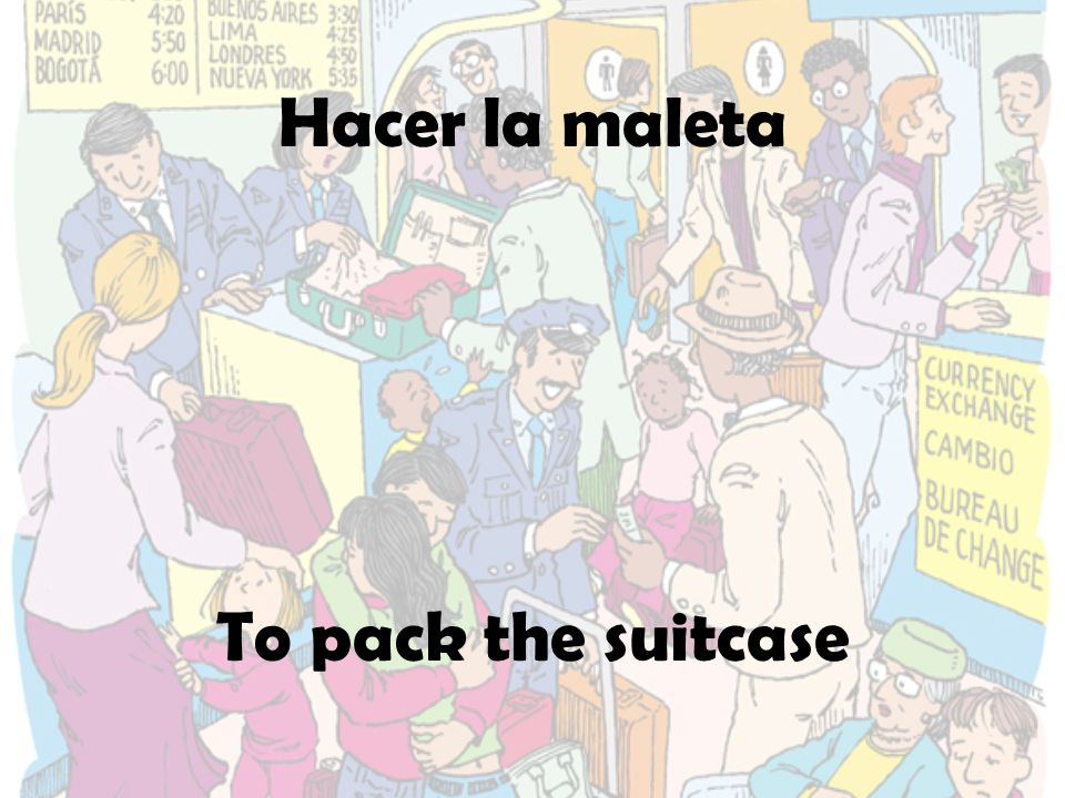 Hacer la maleta To pack the suitcase