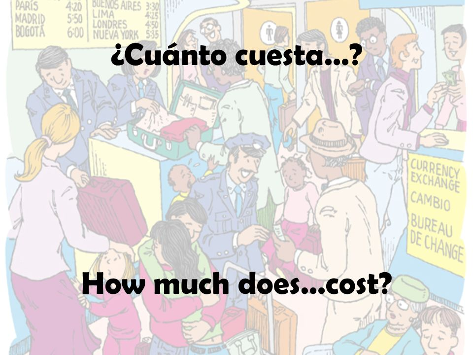 ¿Cuánto cuesta… How much does…cost