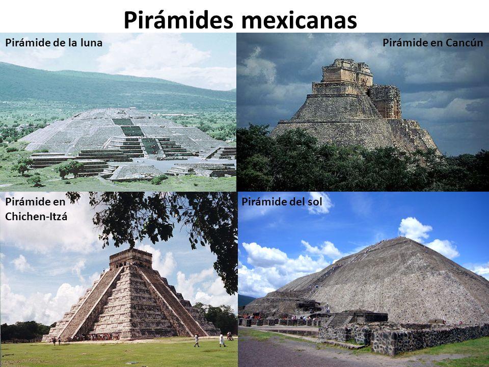 Pirámides mexicanas Pirámide de la luna Pirámide en Cancún Pirámide en