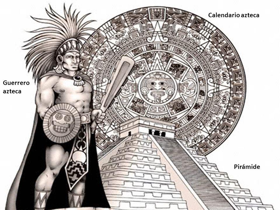 Calendario azteca Guerrero azteca Pirámide