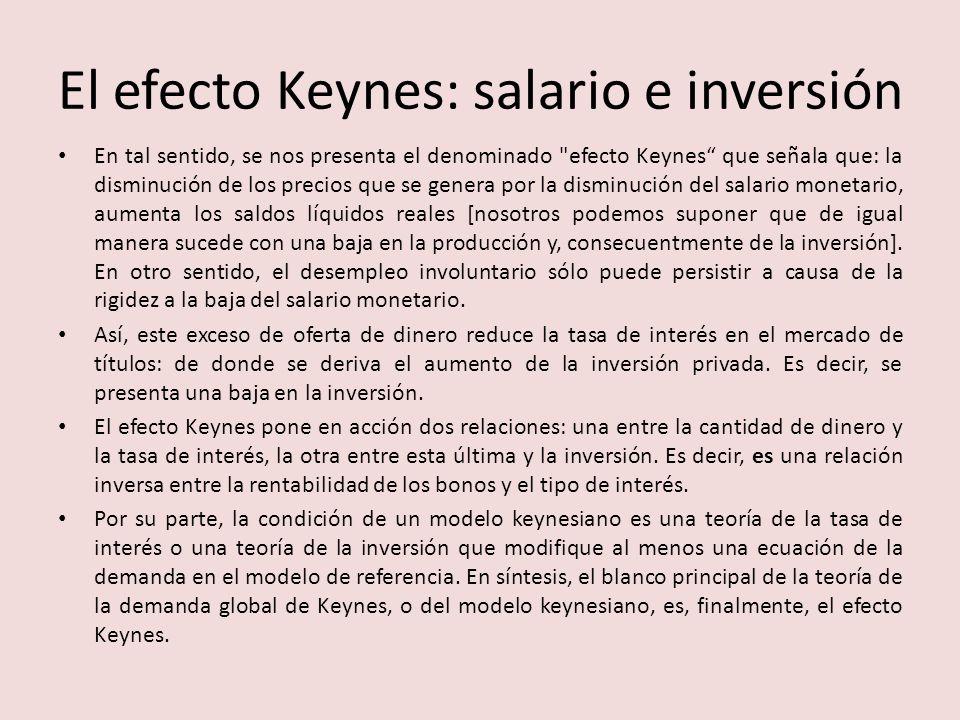 El efecto Keynes: salario e inversión