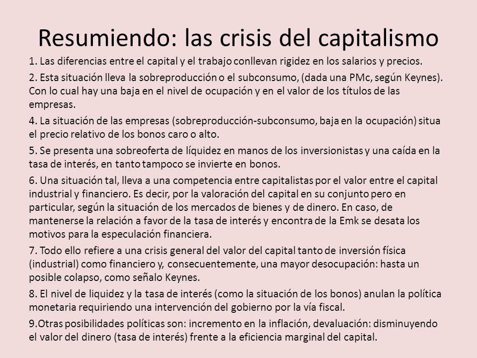 Resumiendo: las crisis del capitalismo