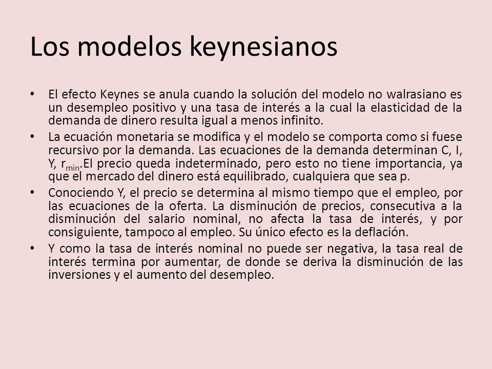 Los modelos keynesianos