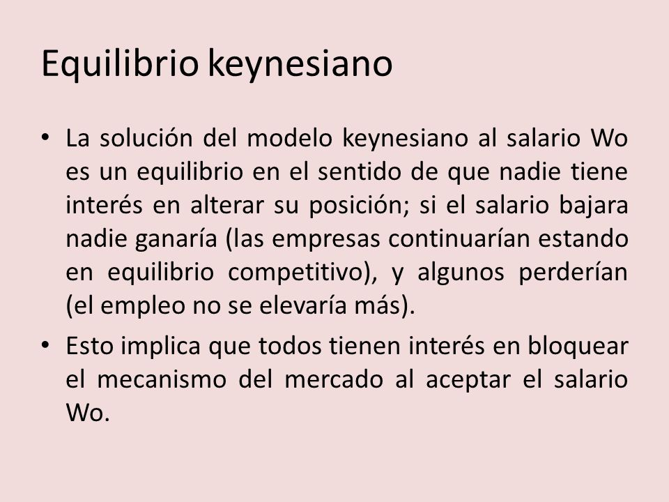 Equilibrio keynesiano