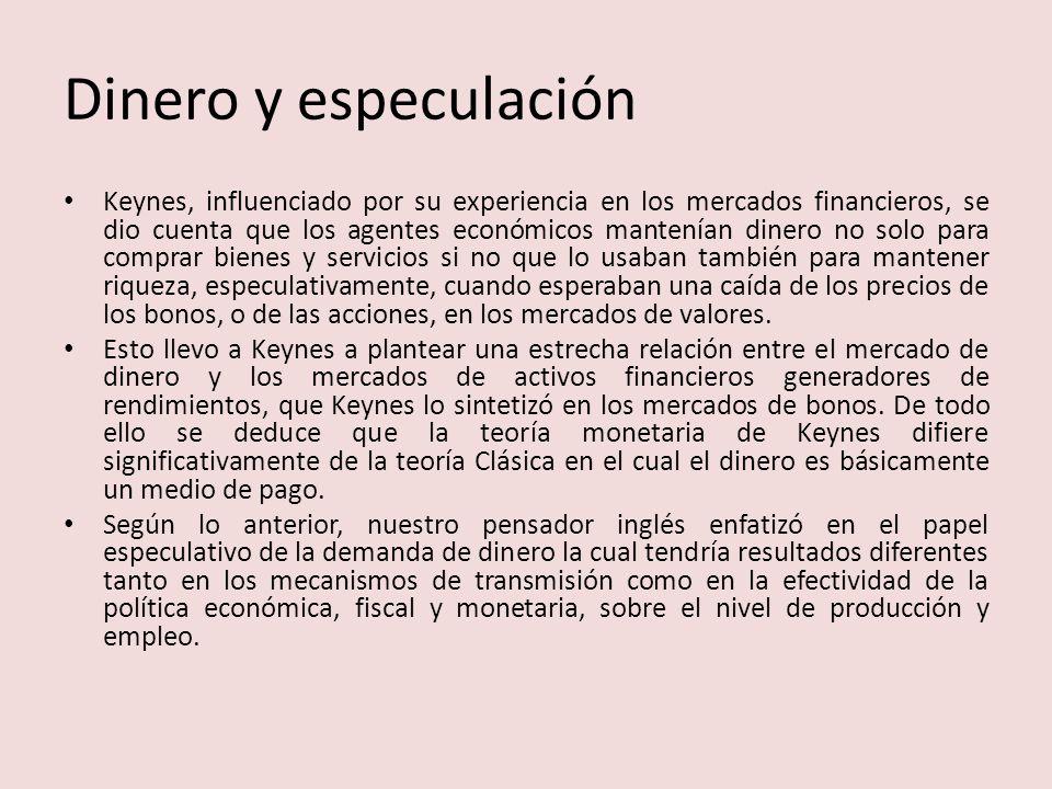 Dinero y especulación