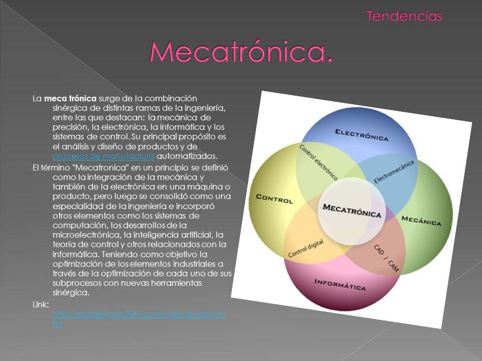 Mecatrónica. Tendencias