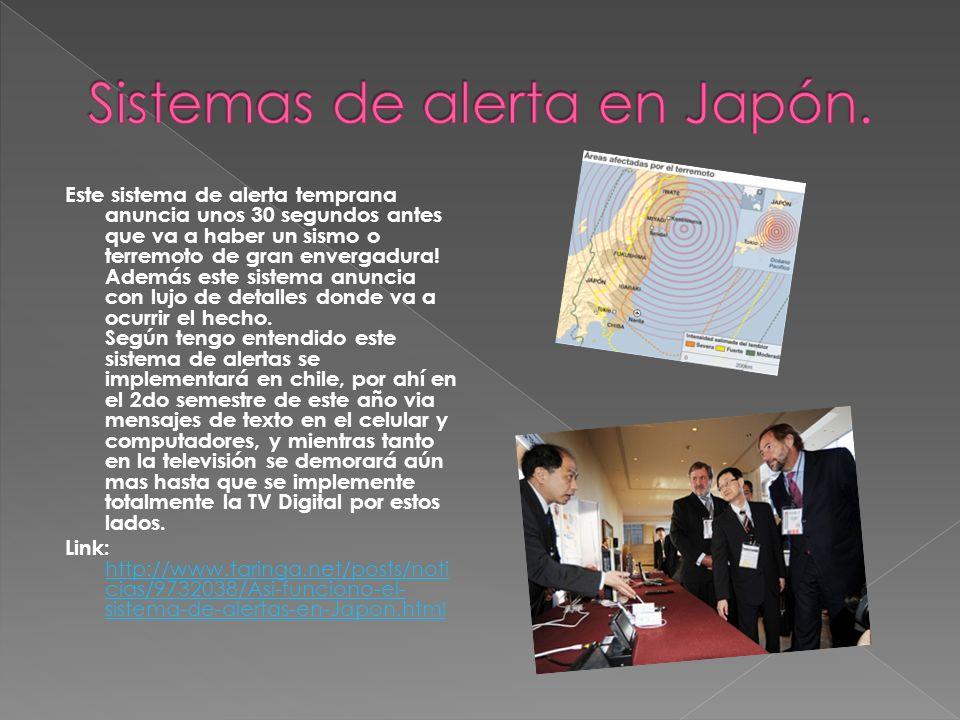 Sistemas de alerta en Japón.