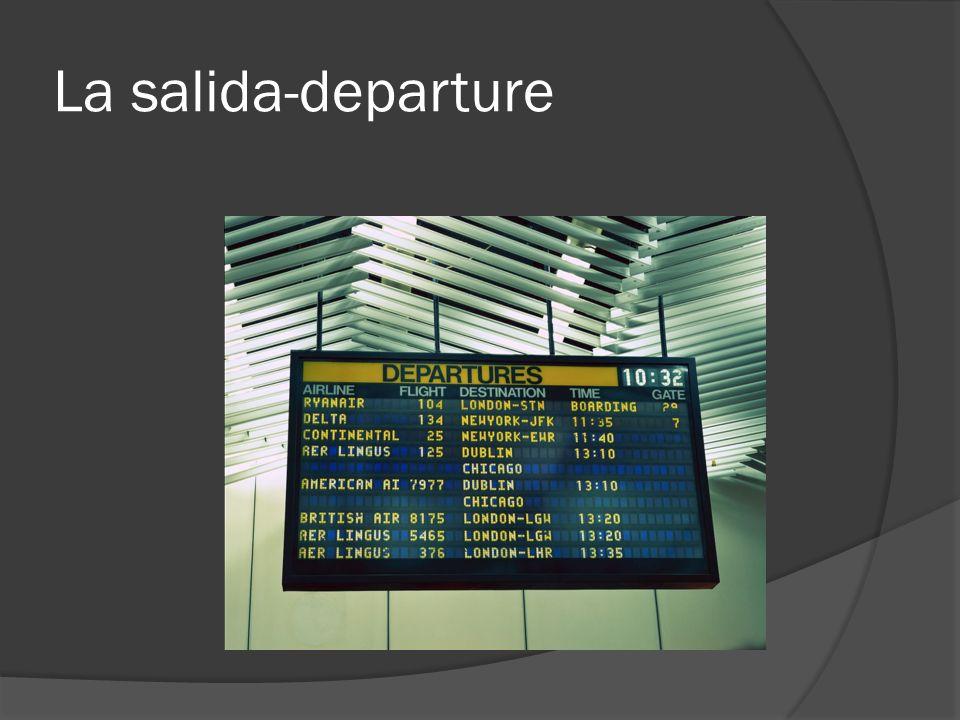 La salida-departure