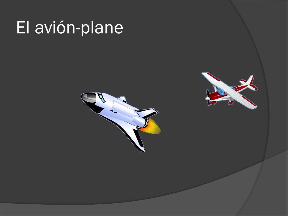 El avión-plane