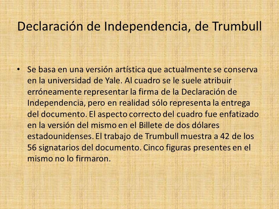 Declaración de Independencia, de Trumbull