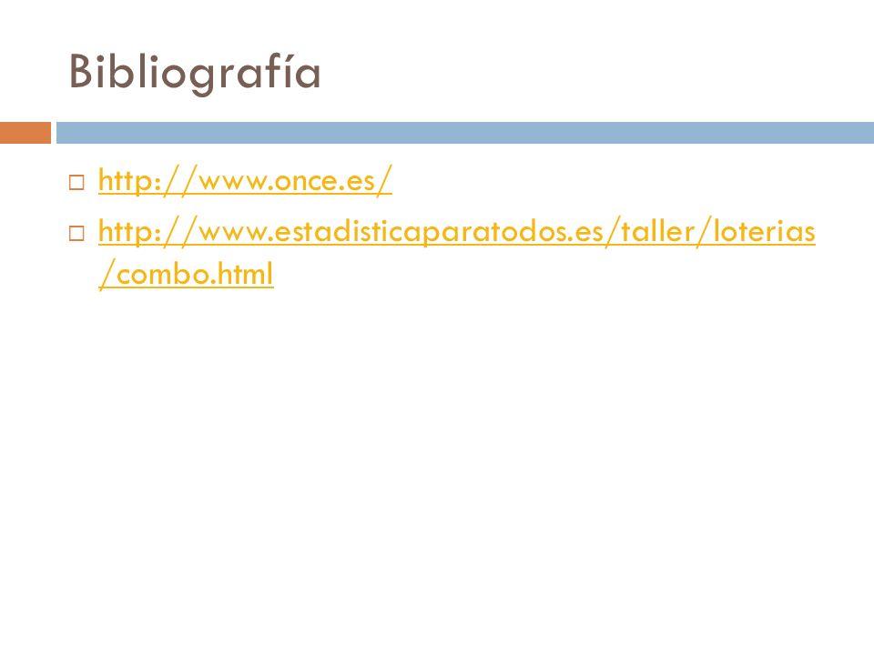Bibliografía http://www.once.es/