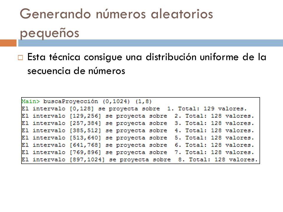 Generando números aleatorios pequeños